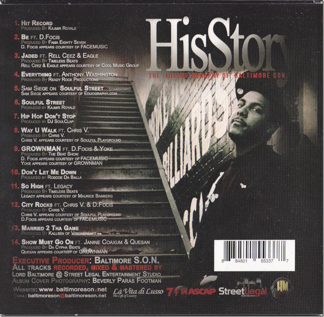 Baltimore-S.O.N. - HisStory (Backcover)