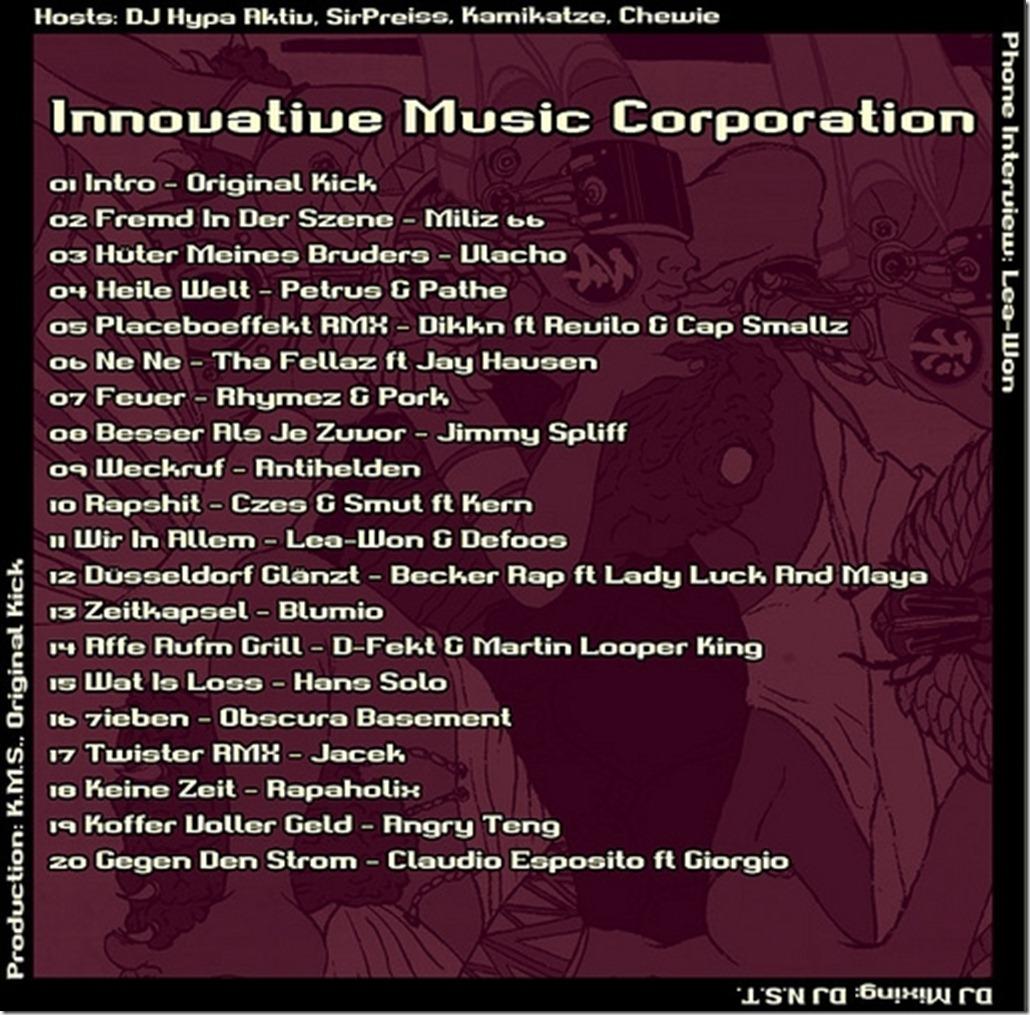 IMC Radio Mixshow 05-2012 Tracklist