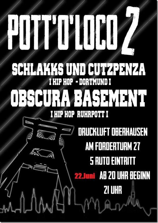 Pott-o-Loco-2-Flyer-Schlakks-Cutz-Penza-Obscura-Basement. Flyer