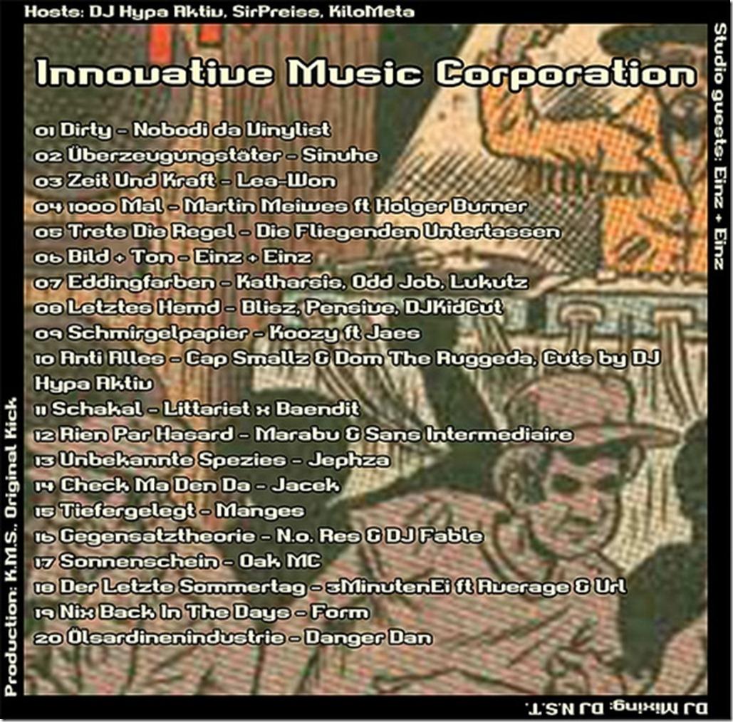 imc-mixshow-10-2012-einz-und-einz-tracklist