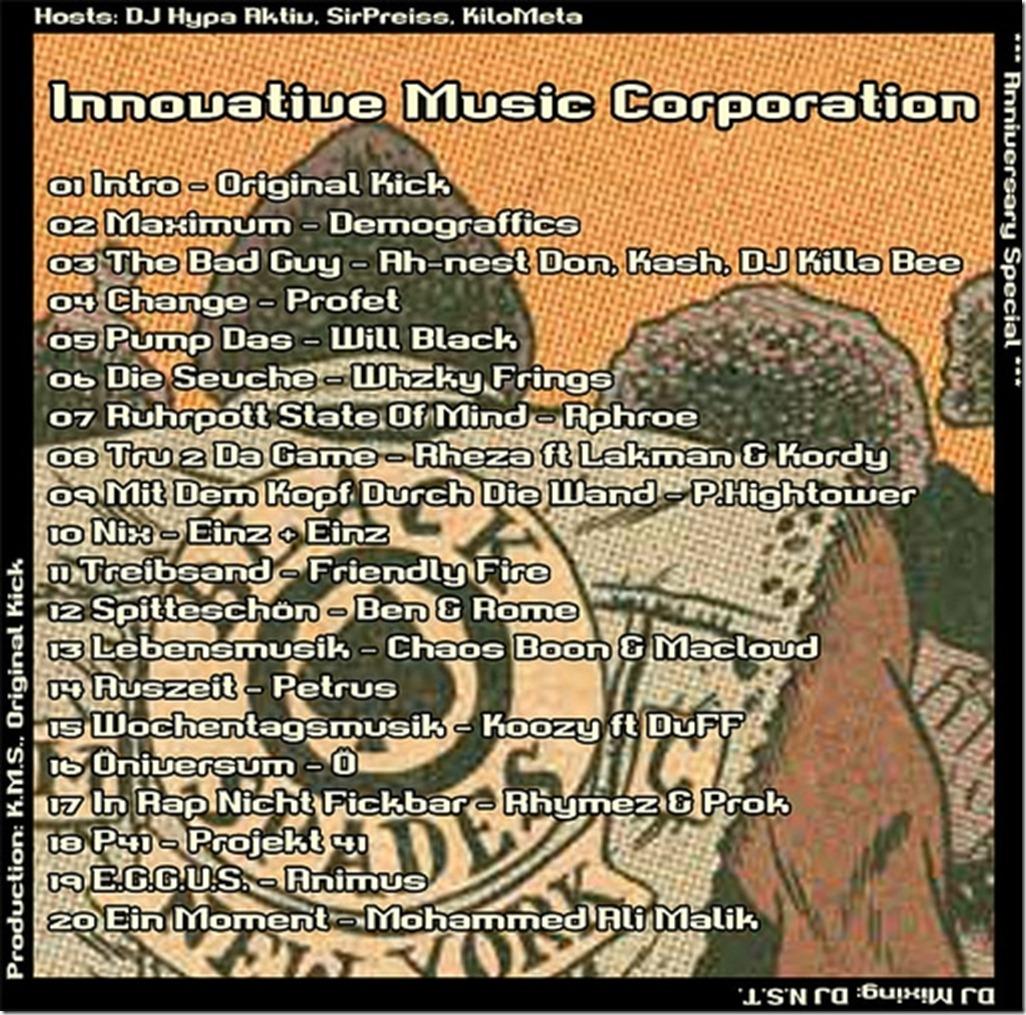 IMC-Radio-Mixshow-11-2012-Anniversary-Special-Tracklist