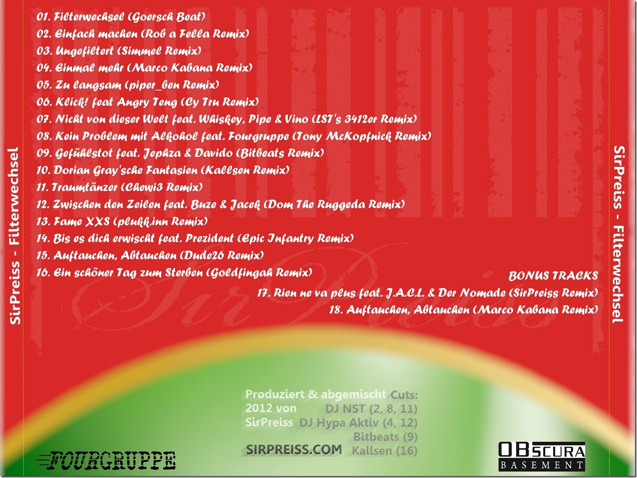 SirPreiss - Filterwechsel (Back Cover)