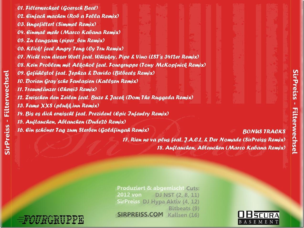 SirPreiss - Filterwechsel (Back Cover)