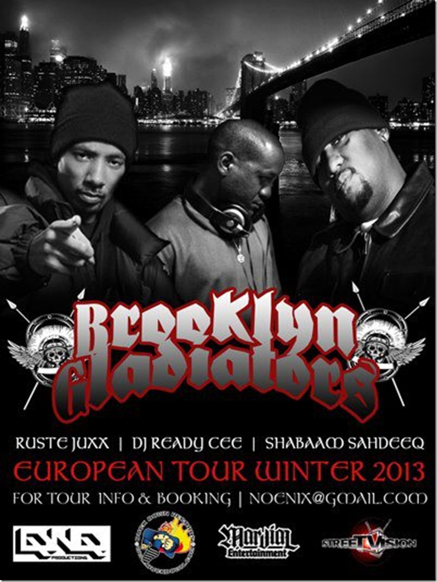 Brooklyn Gladiators European Tour Flyer