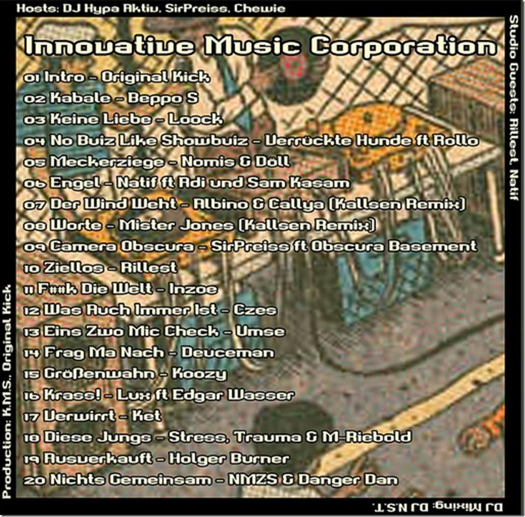 IMC-Radio-Mixshow-01-2013-mit-Rillest-und-Natif-Tracklist