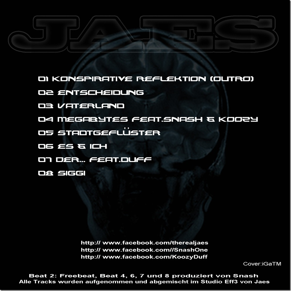 Jaes - Julian EP (Back Cover)