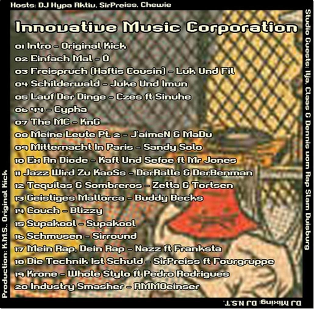 IMC-Radio-Mixshow-02-2013-mit-Ilja-Claas -DJ-suDOKu-tracklist