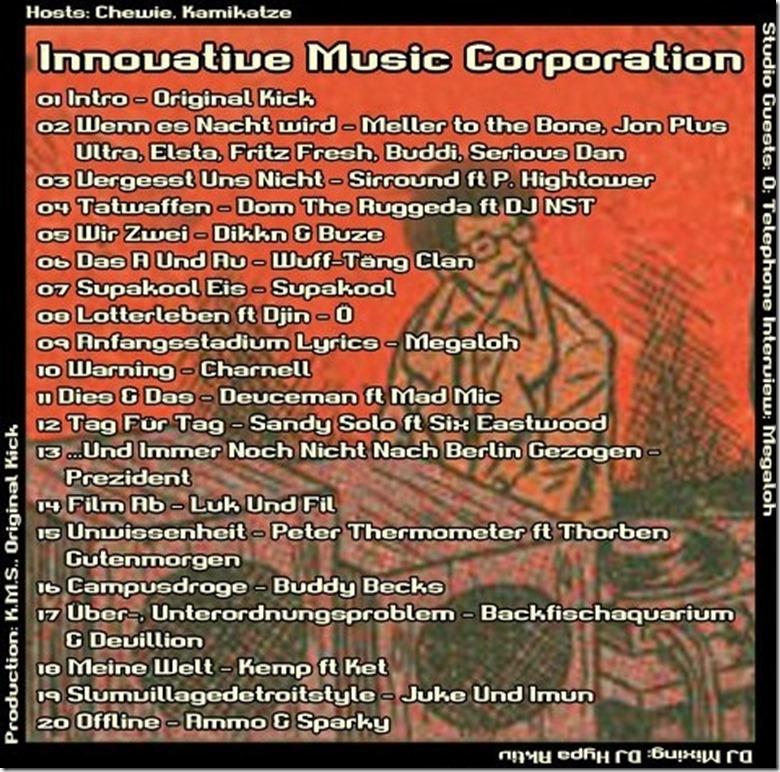 IMC-Radio-Mixshow-03-2013-mit-Oe-Megaloh-Playlist