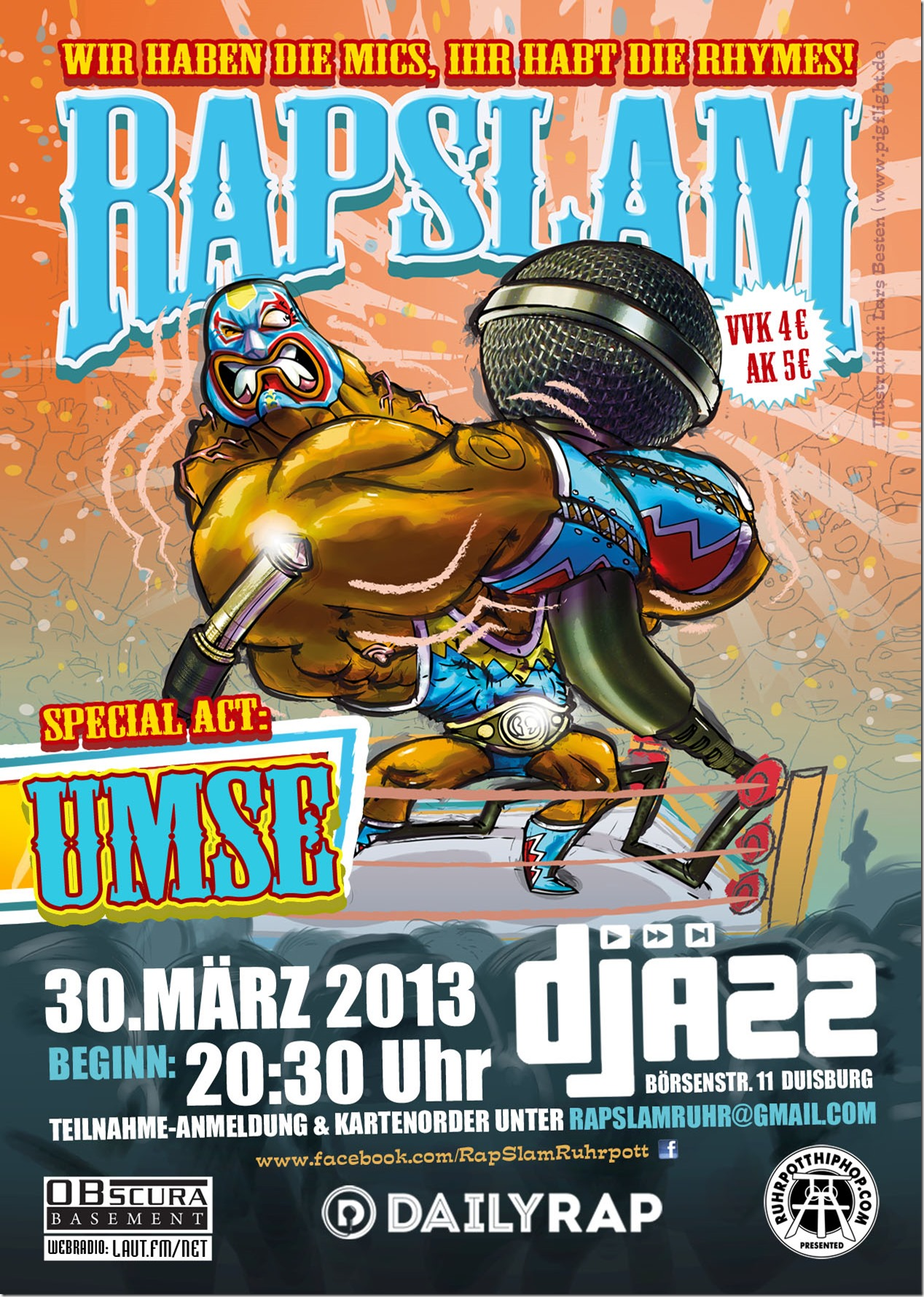 Rap Slam Djäzz Duisburg (Flyer)