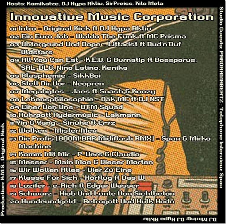 IMC Radio Mixshow 04-2013 mit Panoramabeatz & Spax (Tracklist)