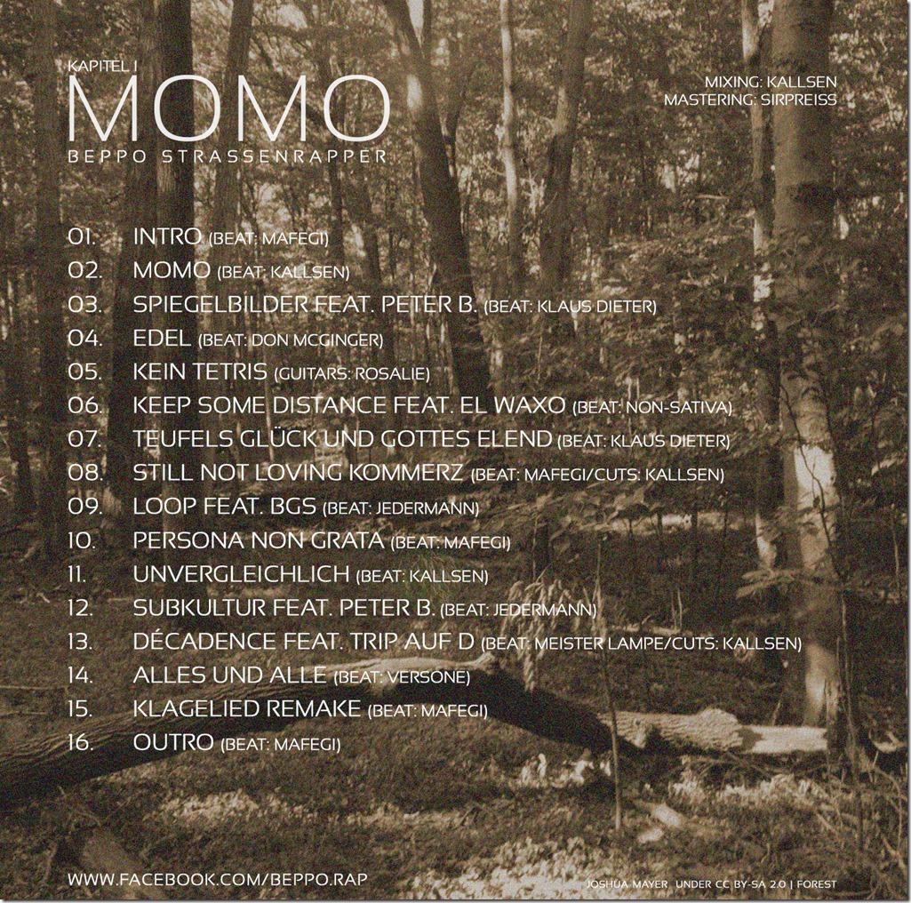 Beppo S. - Kapitel I - Momo (Back Cover)