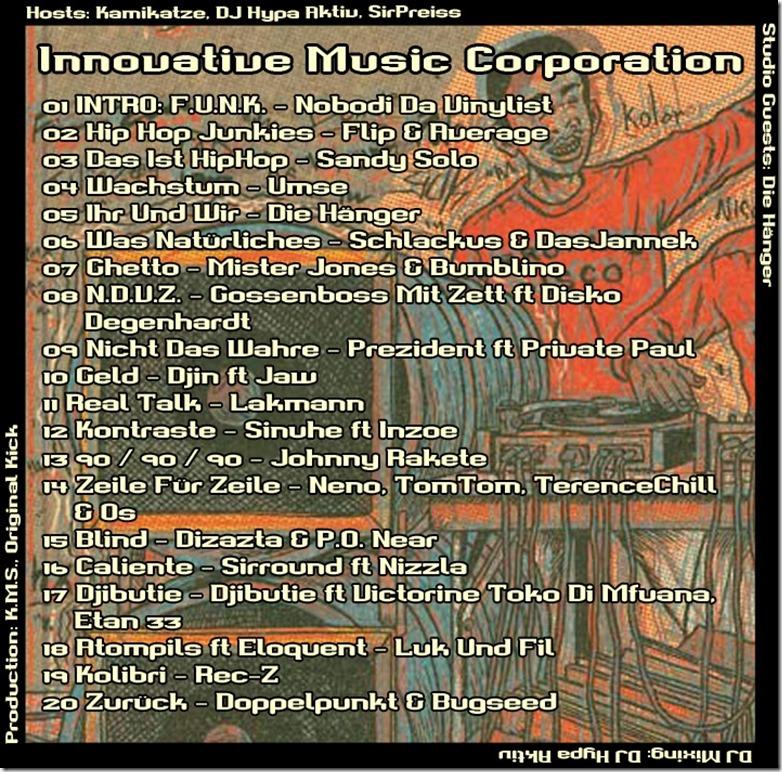 IMC Radio Mixshow 06-2013 mit Die Hänger (Playlist)