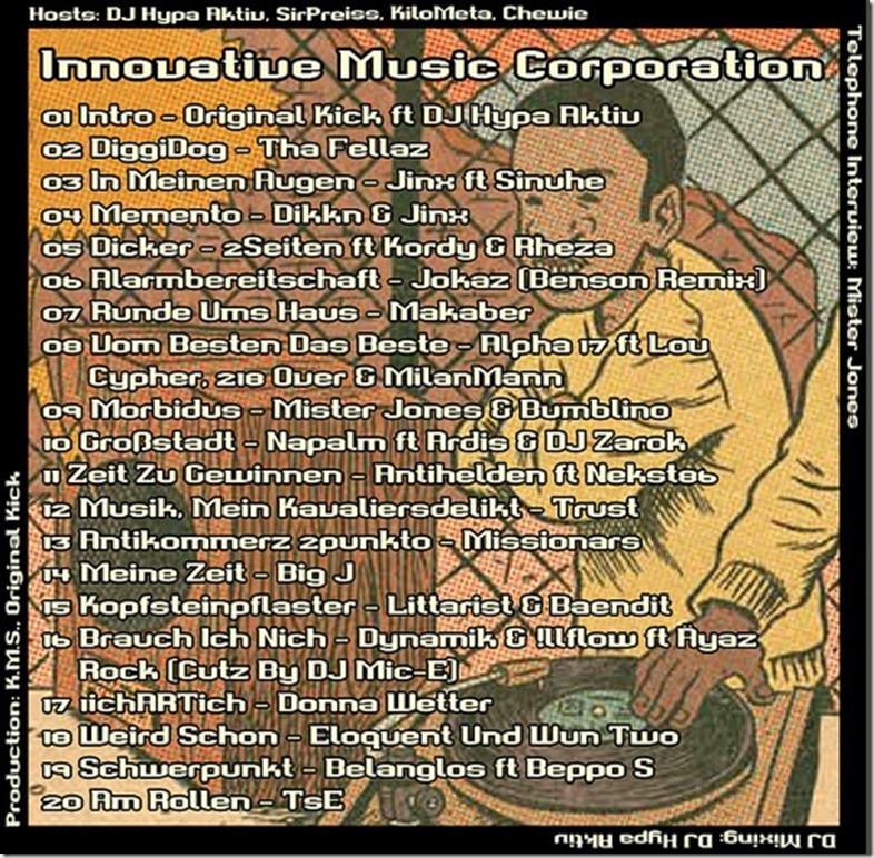 IMC Radio Mixshow 08-2013 mit Mister Jones (Tracklist)