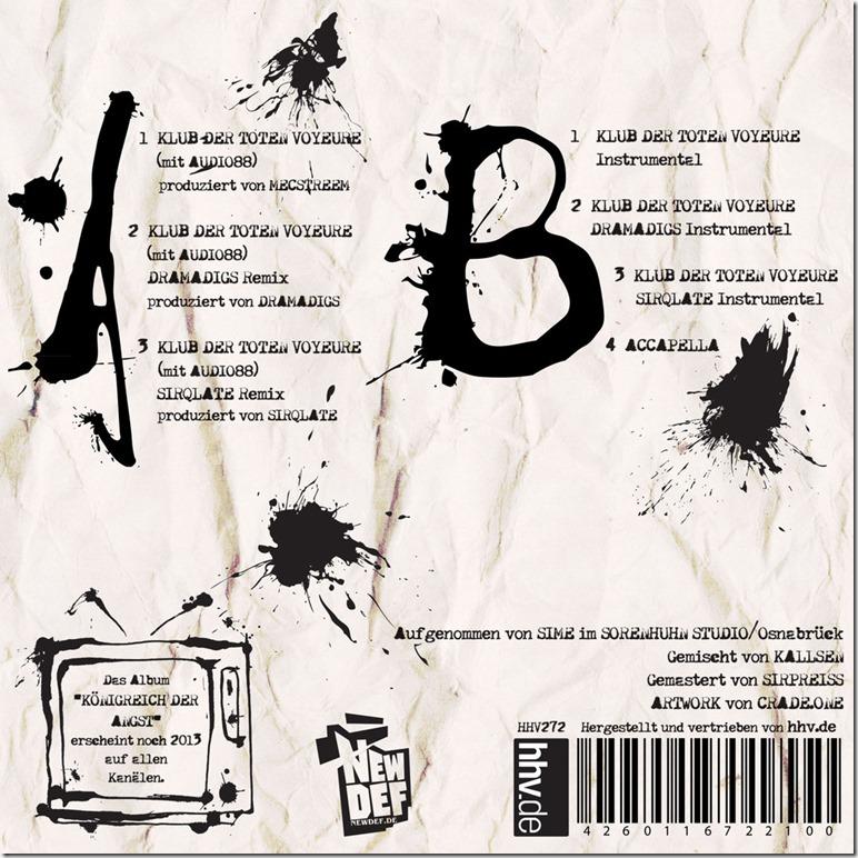 Abroo & Audio88 - Klub der toten Voyeure (Backcover)