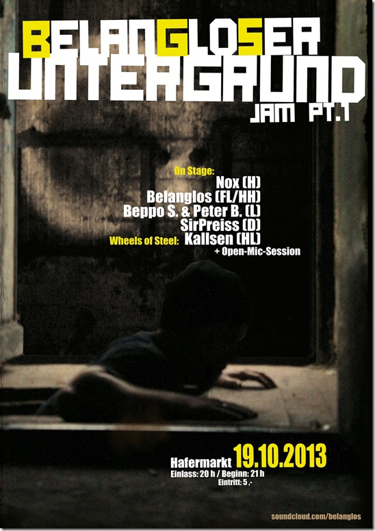 Belanglos Untergrund Jam Part 1 (Flyer)