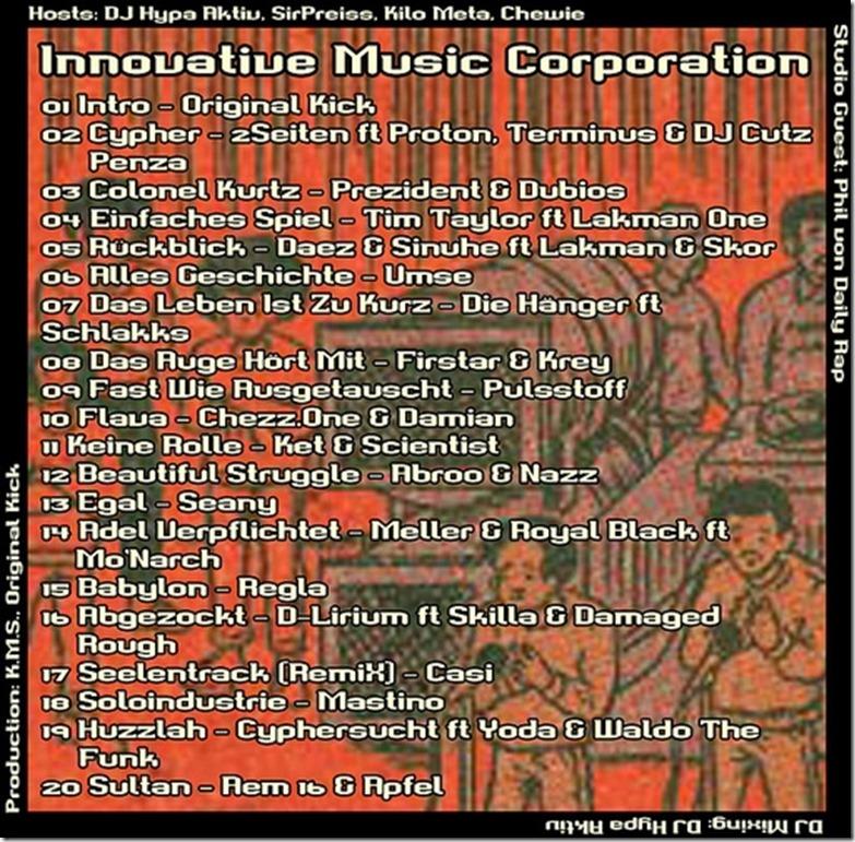 IMC Radio Mixshow 10-2013 mit Phil von Daily Rap (Tracklist)