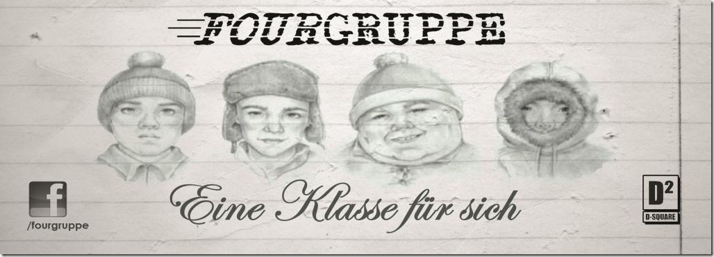 """Der Sticker zum Fourgruppe Vinyl """"Eine Klasse für sich"""""""