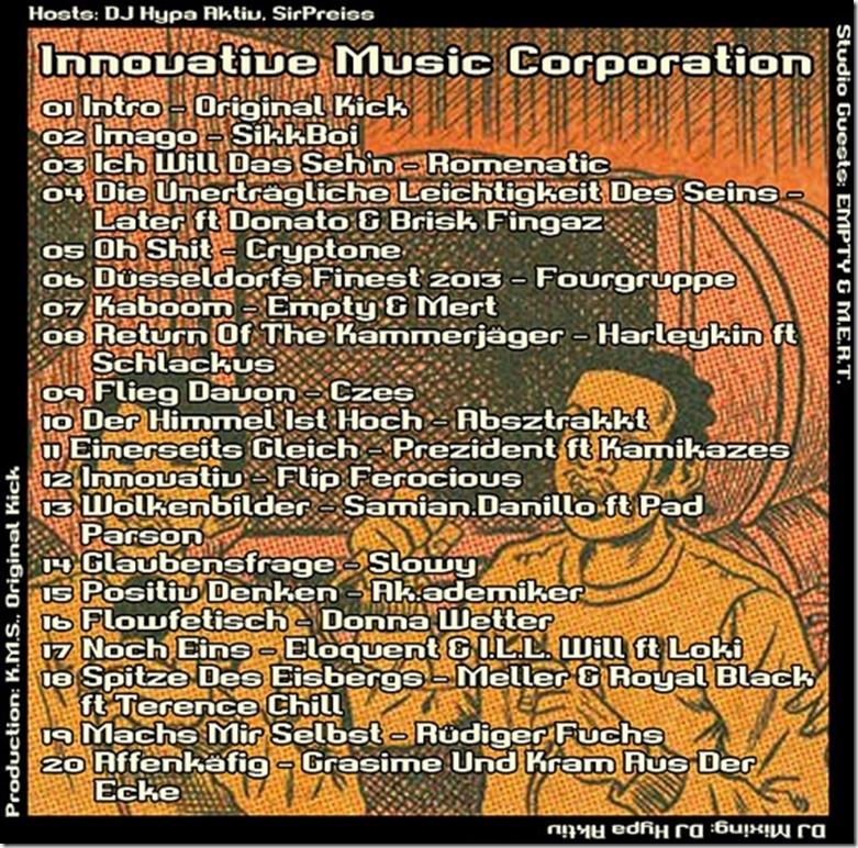 IMC Radio Mixshow 11-2013 mit Empty & Mert (Tracklist)