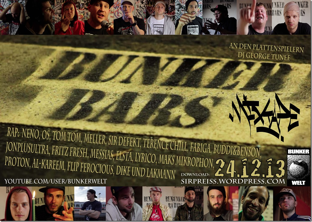 Bunker Bars 2013 Mixtape (Sticker)
