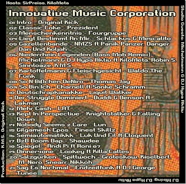 IMC Radio Mixshow 01-2014 mit Michelmann (Tracklist)