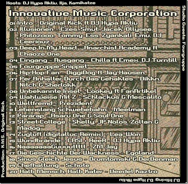 IMC Radio Mixshow 12-2013 mit Fourgruppe (Tracklist)