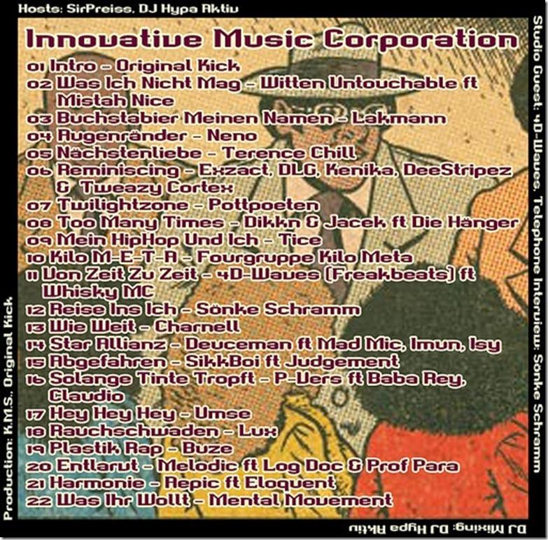 IMC Radio Mixshow 02-2014 mit 4D-Waves & Sönke Schramm (Tracklist)