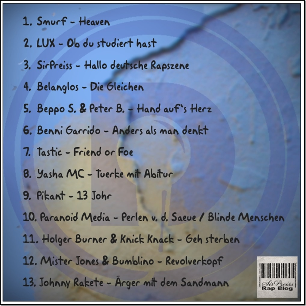 Daily Rap's XIII Sampler Vol.1 (Back Cover)