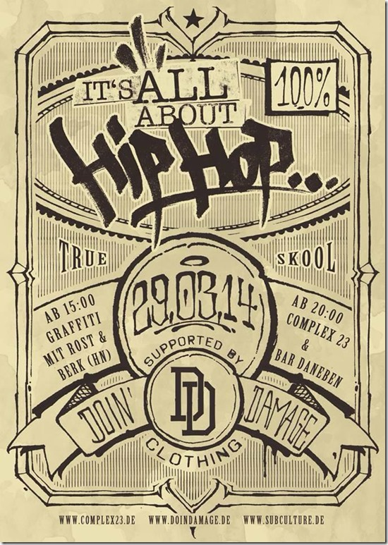 Its all about Hip Hop (Flyer front)