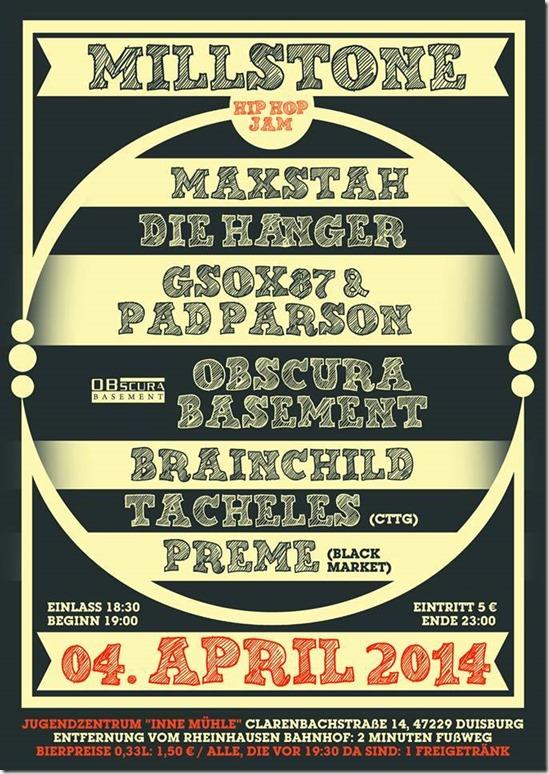 Obscura @ Millstone Jam (Flyer)