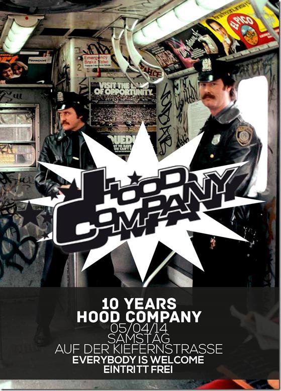 Fourgruppe @ 10 Jahre Hood Company (Flyer)