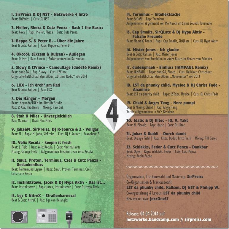 Netzwerke Sampler 4 (Back Cover)