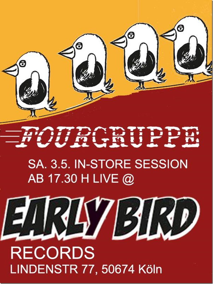 Fourgruppe @ Early Bird Session (Flyer)