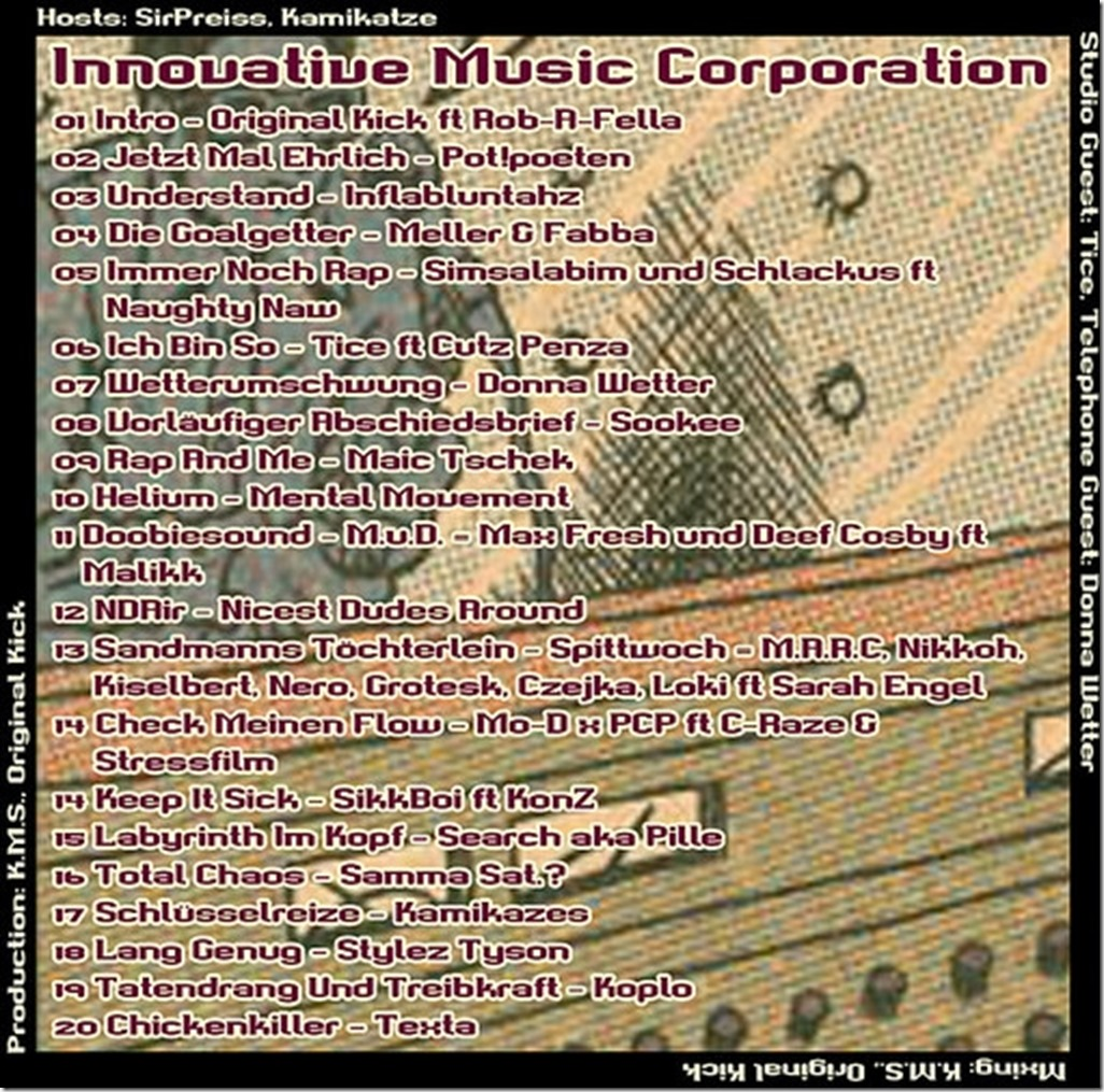 IMC Radio Mixshow 06-2014 mit Tice & Donna Wetter (Tracklist)