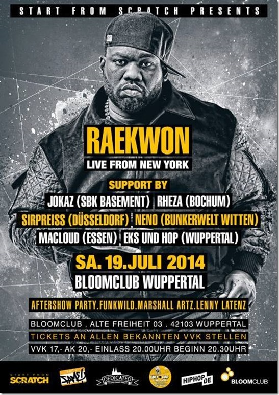 SirPreiss @ Raekwon Support (Flyer)
