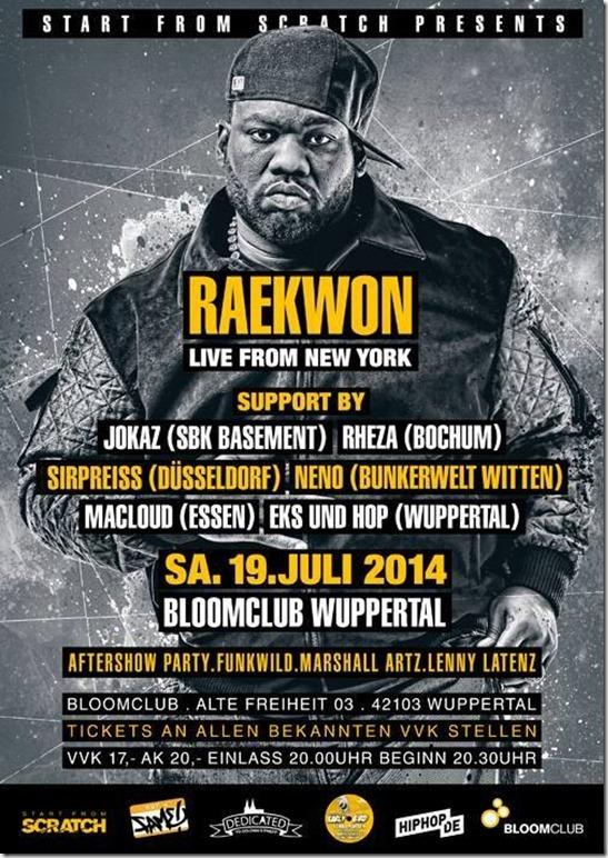 SirPreiss @ Raekwon Support (Flyer)
