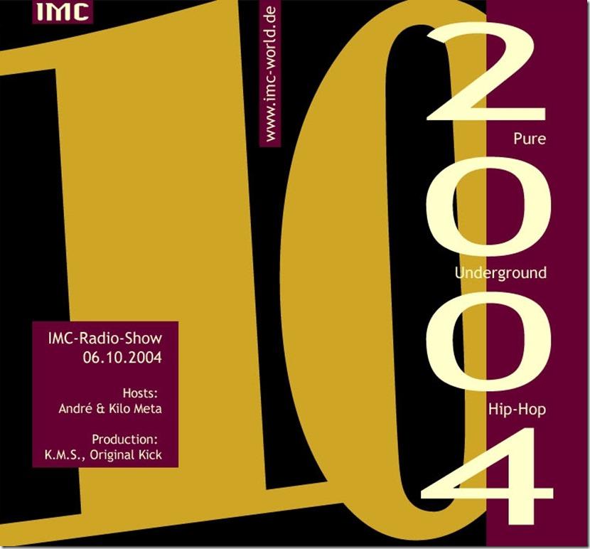 IMC Radio Mixshow 0410 (Front Cover)