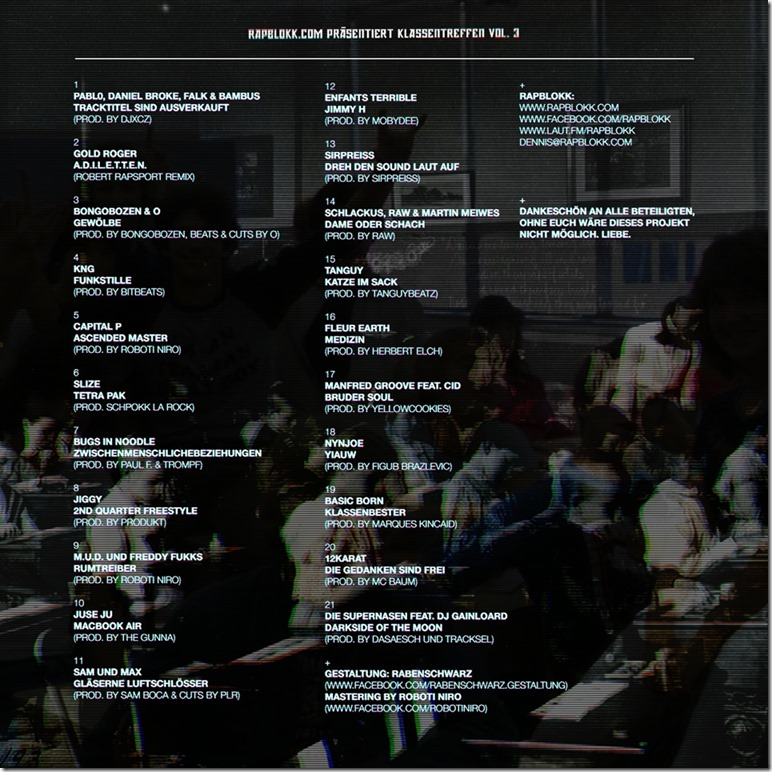 Klassentreffen Vol.3 (Back Cover)
