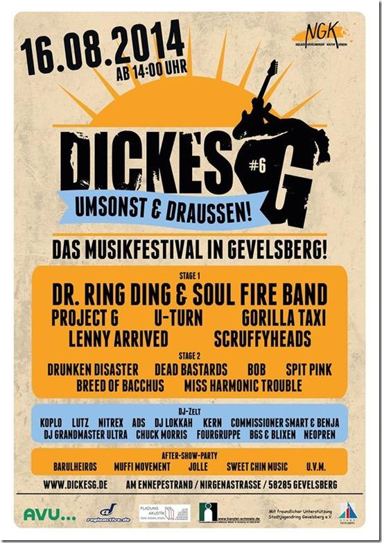 Dickes G Festival (Flyer)