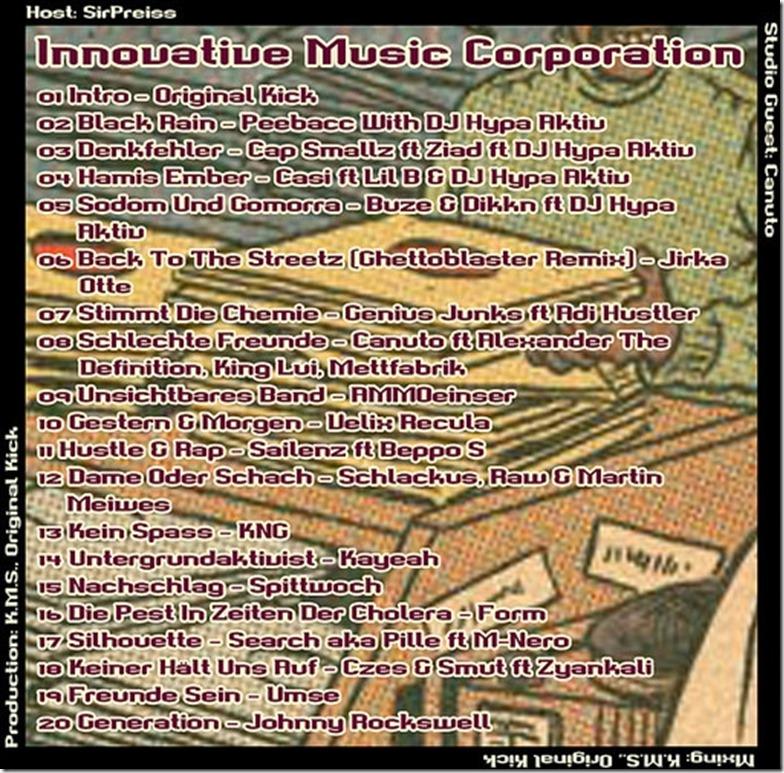 IMC Radio Mixshow 08-2014 mit Canuto (Tracklist)