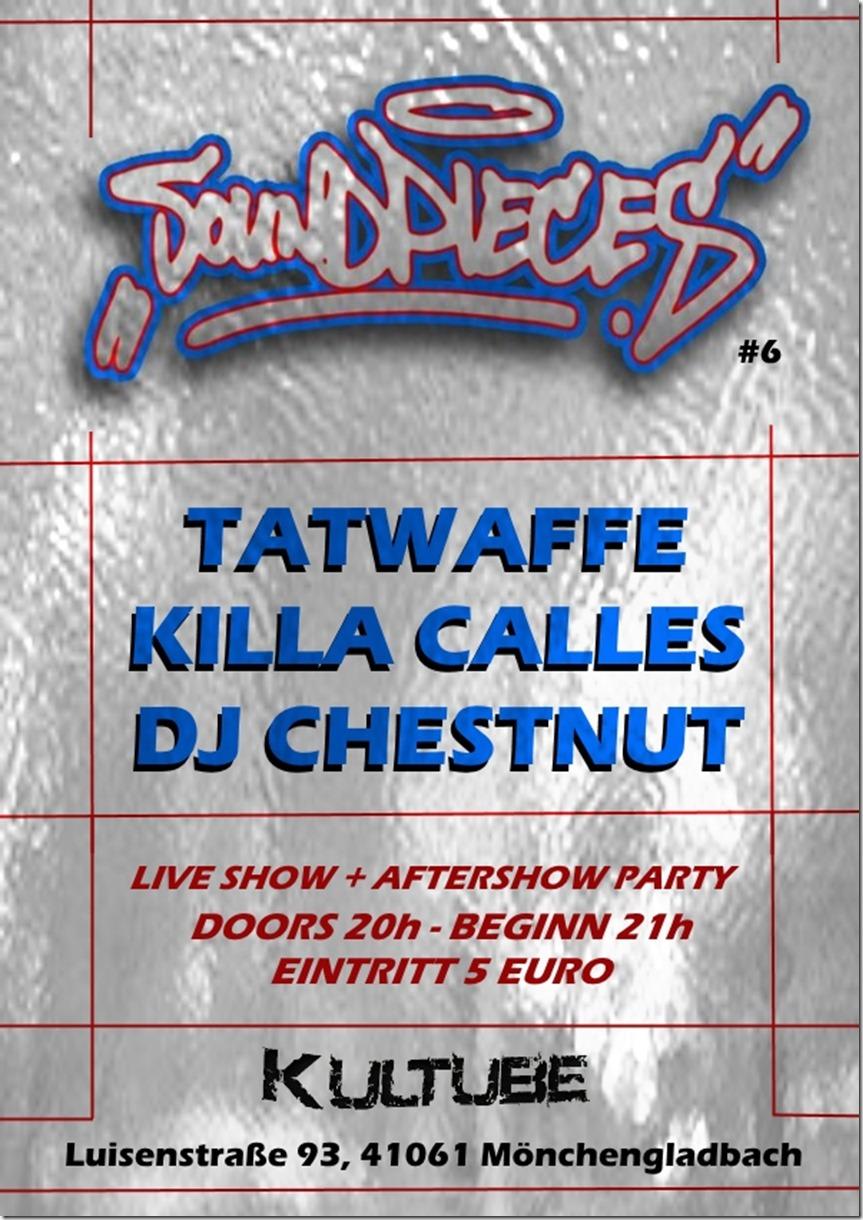 Tatwaffe, Killa Calles @ Kultube (Flyer)