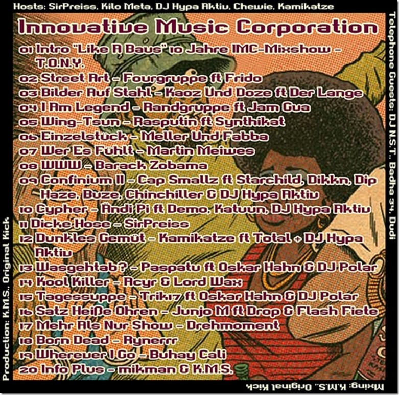 IMC Radio Mixshow 1410 - 10th Year Special Edition (Tracklist)