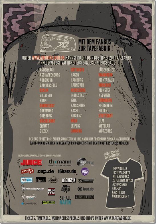 Auf deine Tour (Tapefabrik 2015 Flyer)