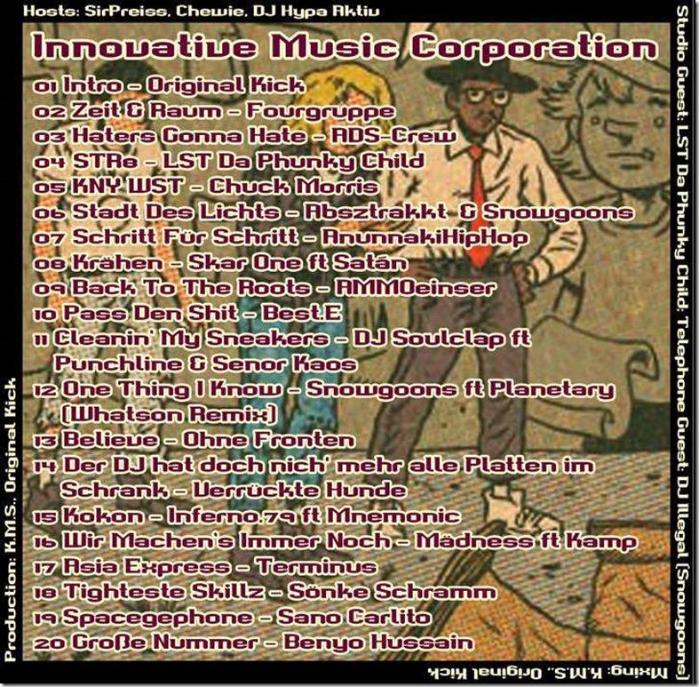 IMC Mixshow 1501 mit LST da phunky child & DJ Illegal (Tracklist)