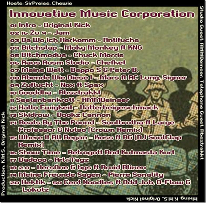 IMC Radio Mixshow 12-2014 mit AMMOeinser & Absztrakkt (Tracklist)