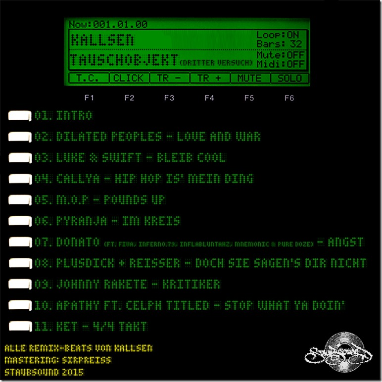 Kallsen - Tauschobjekt 3 (Tracklist)