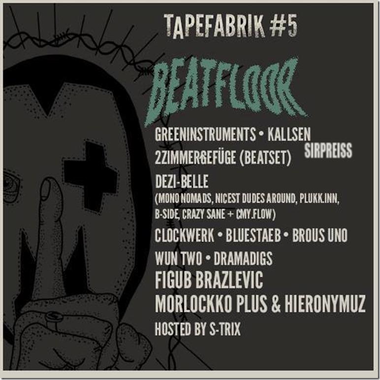 Tapefabrik 2015 Beatfloor Flyer
