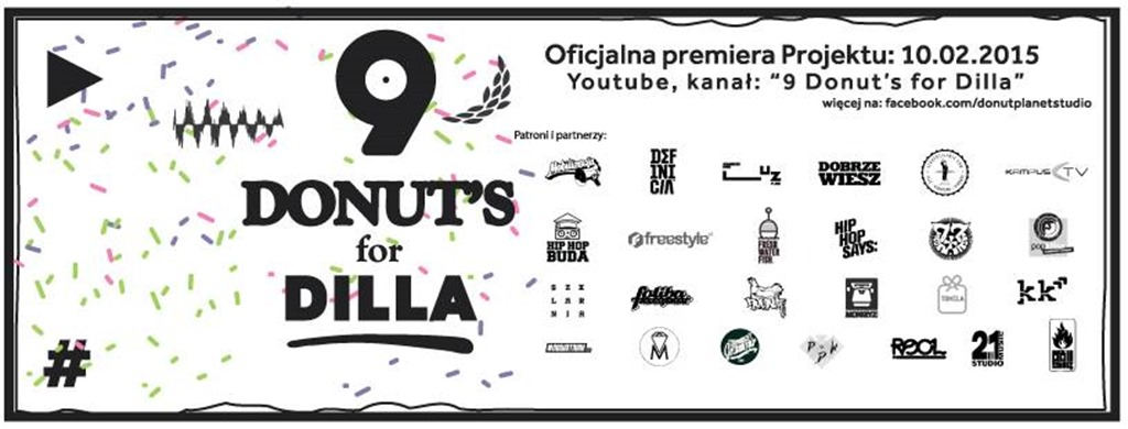 9 Donuts for Dilla (Facebook Header)