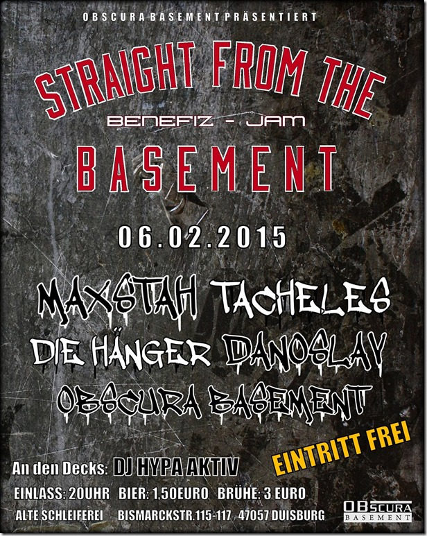 Straight from the Basement Jam (Flyer)